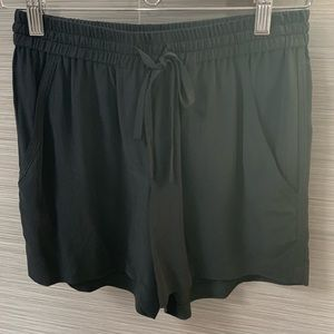 100% Silk Black Shorts with Pockets